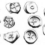 старинные знаки - клейма на посуде
